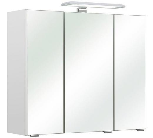 SPIEGELSCHRANK Weiß  - Chromfarben/Weiß, Basics, Glas/Holzwerkstoff (65/57/20cm) - Carryhome