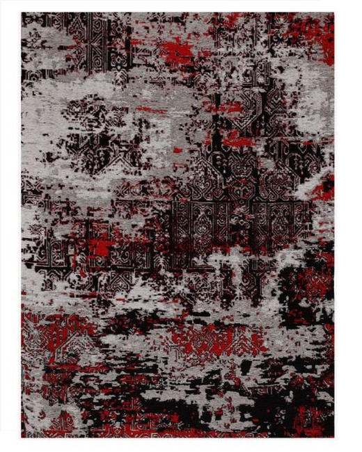 VINTAGE-TEPPICH - Rot/Grau, Trend, Textil (170/240cm) - Novel