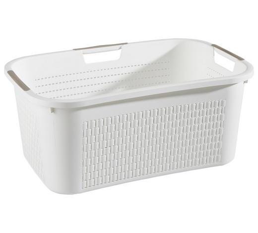 WÄSCHEKORB  - Weiß, Basics, Kunststoff (59/39/25,2cm) - Rotho