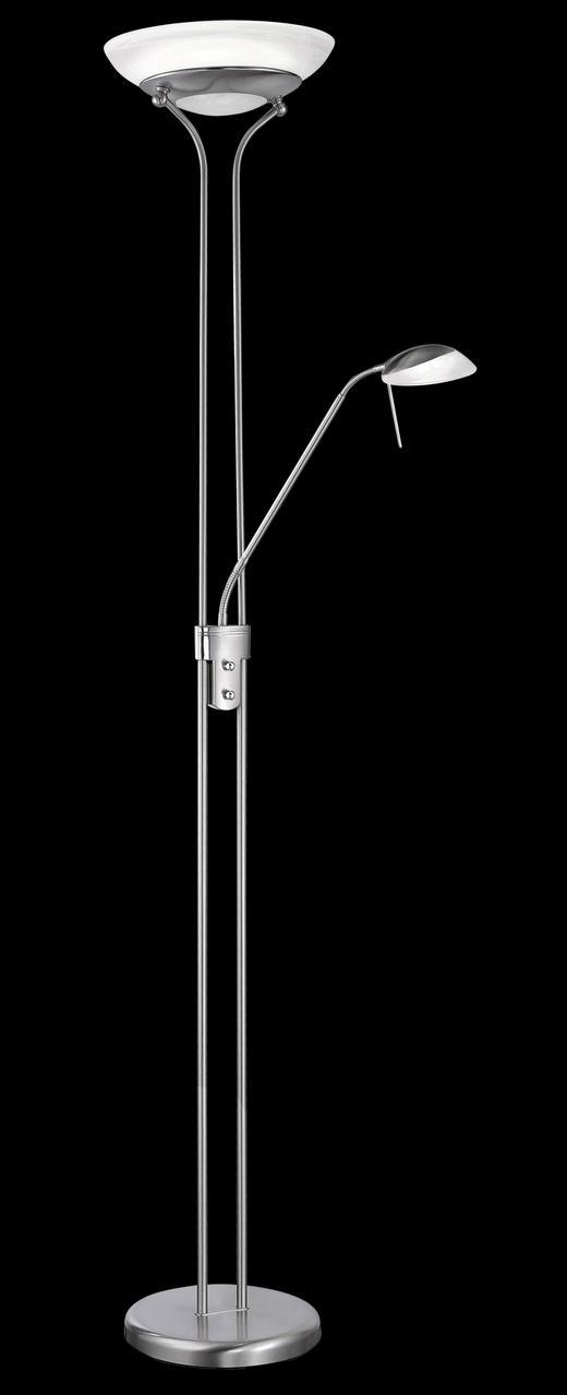 LED-STEHLEUCHTE - Chromfarben, Basics, Metall (182cm)