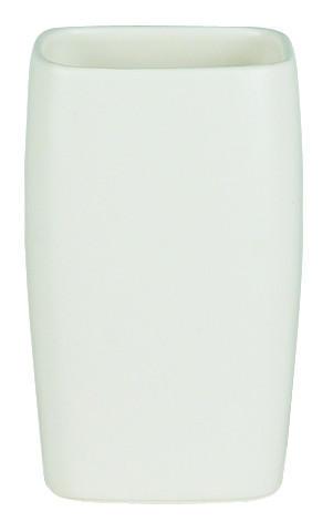 ZAHNPUTZBECHER - Weiß, Basics, Stein (7/11cm) - Spirella