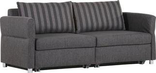 SCHLAFSOFA in Textil Grau - Schwarz/Grau, Design, Kunststoff/Textil (204/242/81/103cm) - Venda