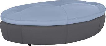 HOCKER in Textil Blau, Grau - Blau/Schwarz, Design, Kunststoff/Textil (155/47/78cm) - Hom`in