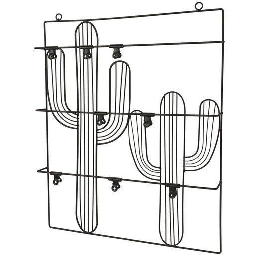 MEMOBOARD - Schwarz, Design, Metall (40/51,6/4,5cm)