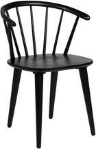 STOL - svart, Modern, trä/träbaserade material (54/76/52cm) - ROWICO