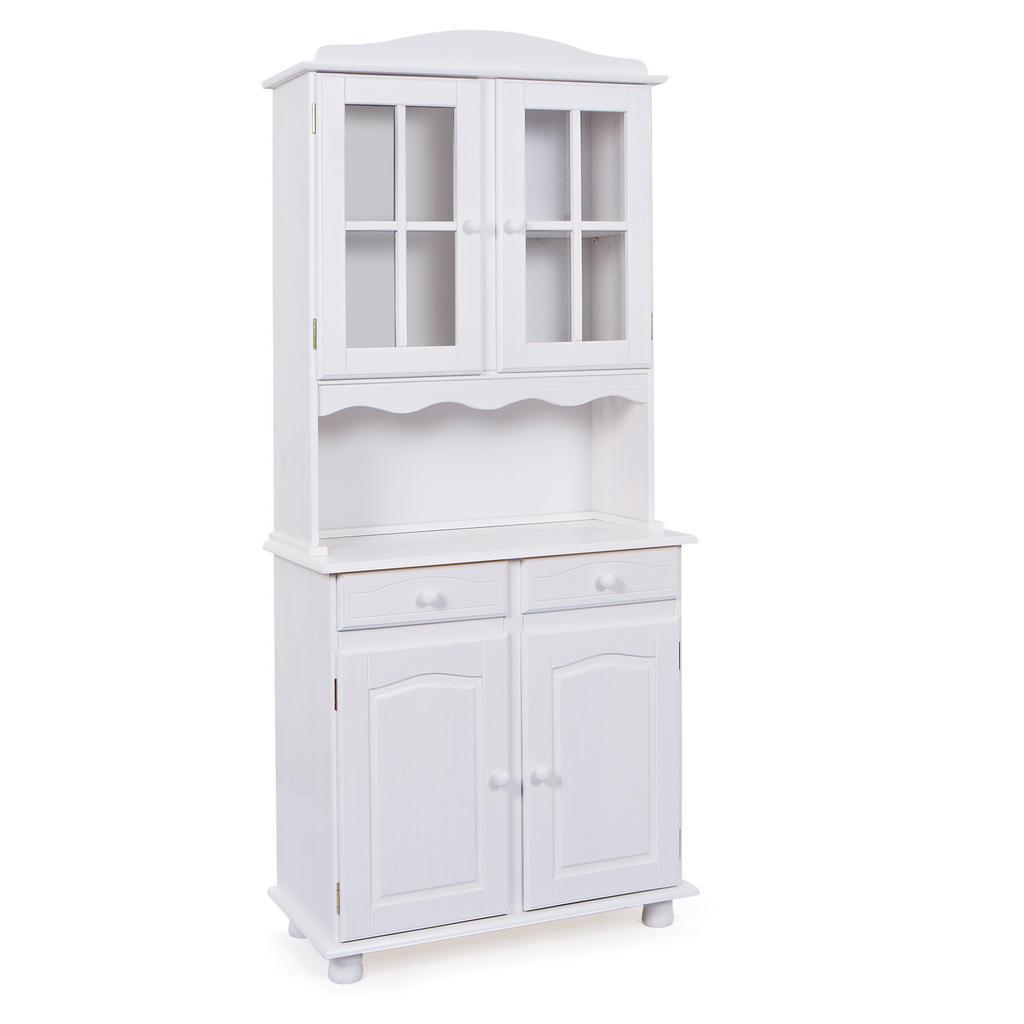 Carryhome BUFFET Kiefer massiv Weiß | Küche und Esszimmer > Küchenschränke > Buffets und Buffetschränke | Holz | Carryhome
