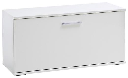 GARDEROBENBANK Weiß - Chromfarben/Weiß, MODERN, Kunststoff/Metall (90/47/38cm)
