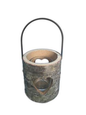 LJUSLYKTA - svart/naturfärgad, Natur, metall/glas (8/9cm) - Ambia Home