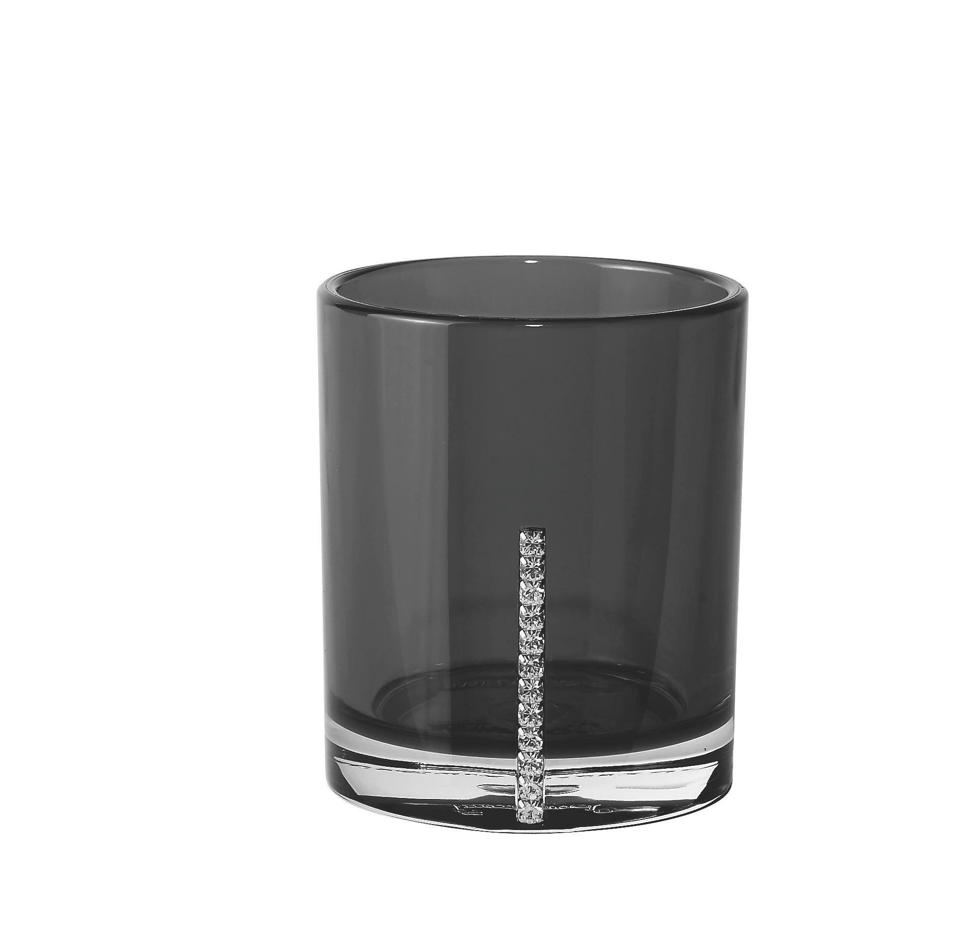 KALÍŠEK NA ÚSTNÍ HYGIENU - černá, Basics, umělá hmota (7/8.5cm)