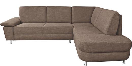 WOHNLANDSCHAFT - Alufarben/Braun, Design, Textil/Metall (262/212cm) - Venda