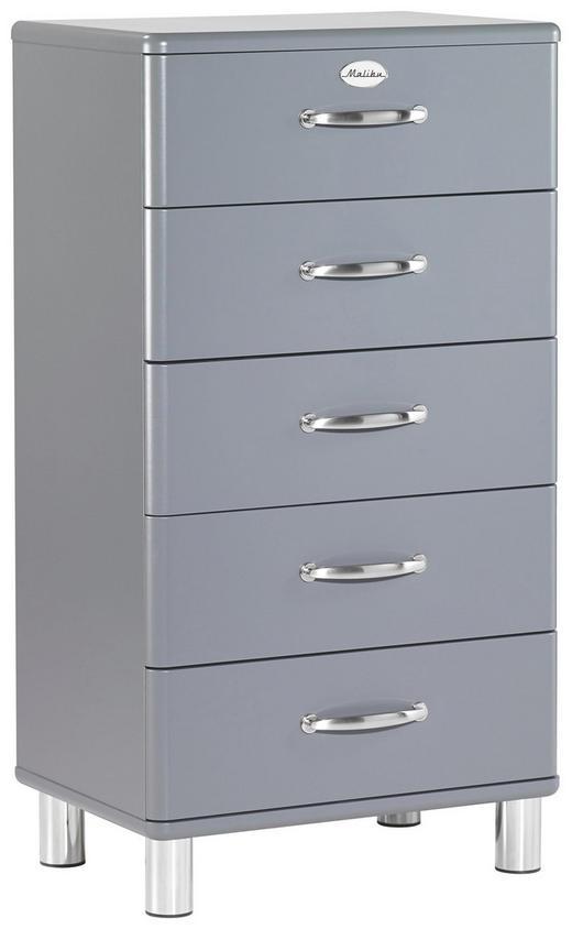 KOMMODE Grau - Grau/Nickelfarben, Design, Metall (60/111/41cm) - Carryhome
