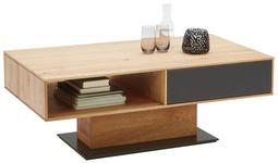COUCHTISCH in Glas, Holz 115/65/44 cm - Eichefarben/Anthrazit, Design, Glas/Holz (115/65/44cm) - Valnatura