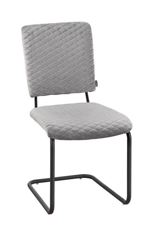 SCHWINGSTUHL in Textil Grau, Schwarz - Schwarz/Grau, Design, Textil/Metall (58/88/44,50cm) - Carryhome