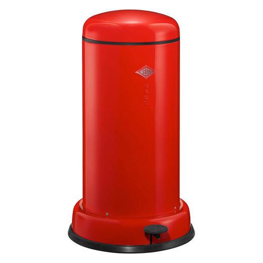ABFALLSAMMLER BASEBOY 20 L - Edelstahlfarben/Rot, Metall (36,2/63,5cm) - Wesco