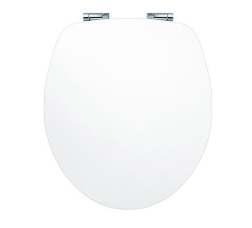 WC-SITZ - Weiß, Basics, Holzwerkstoff (37,5/5,7/44cm) - Sadena
