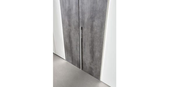 DREHTÜRENSCHRANK 6-türig Grau, Weiß  - Weiß/Grau, Design, Holzwerkstoff/Metall (300/223/64cm) - Dieter Knoll