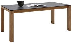 ESSTISCH in Holz, Kunststoff 160(260)/90/75 cm - Eichefarben/Graphitfarben, Design, Holz/Kunststoff (160(260)/90/75cm) - Dieter Knoll