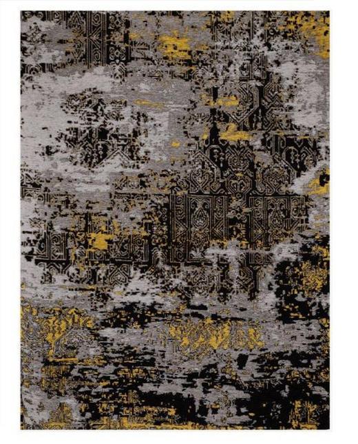 FLACHWEBETEPPICH  70/140 cm  Gelb, Grau - Gelb/Grau, Basics, Textil (70/140cm) - Novel