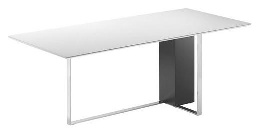ESSTISCH rechteckig Schwarz, Weiß - Schwarz/Weiß, Design, Glas/Holz (135(200)/90/74cm)