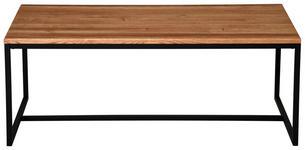 COUCHTISCH in Holz, Metall 110/60/40 cm   - Eichefarben/Schwarz, KONVENTIONELL, Holz/Metall (110/60/40cm) - Carryhome