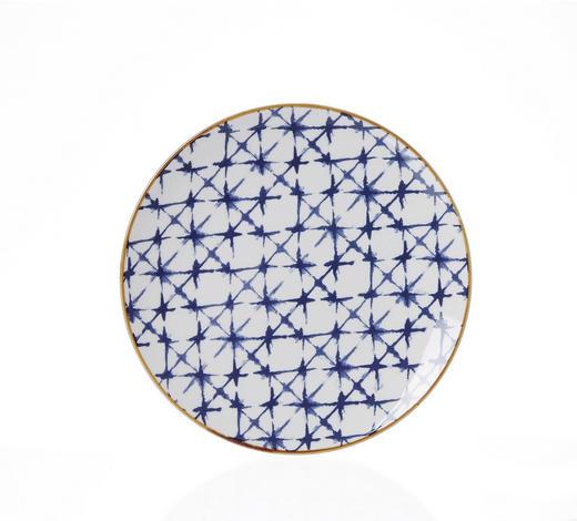 Steinzeug  DESSERTTELLER  rund  - Blau/Braun, Basics, Keramik (21,5cm) - Ritzenhoff Breker