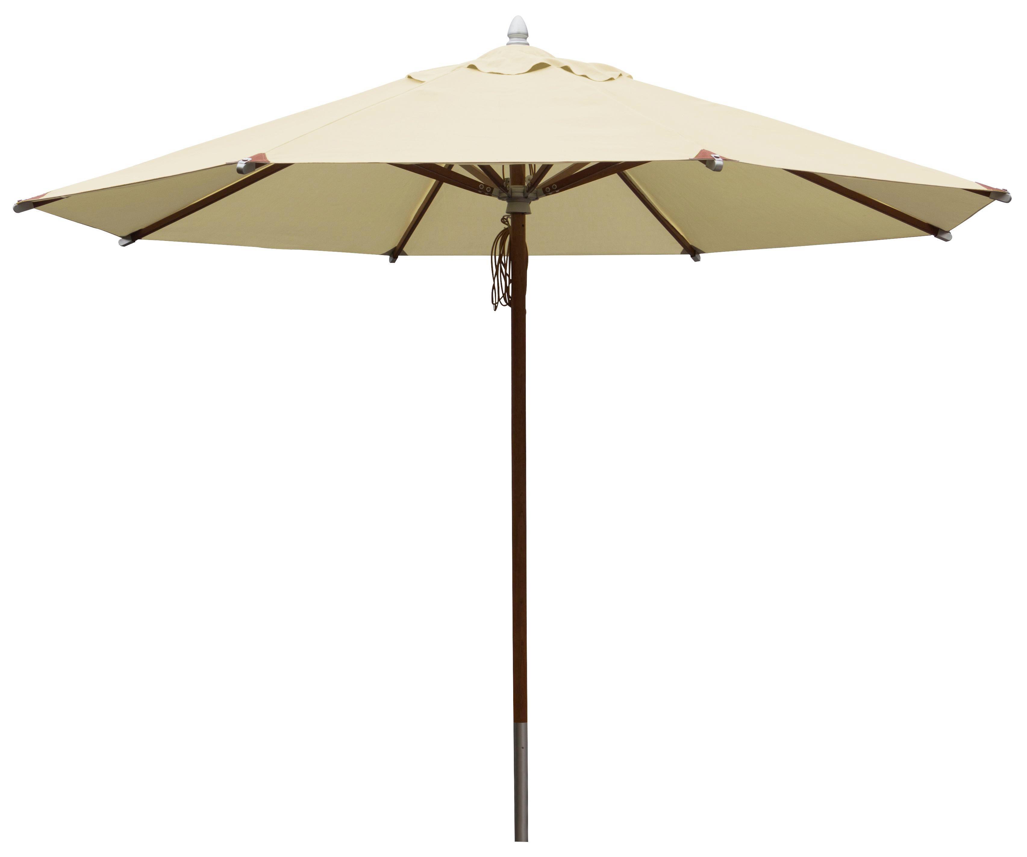 SONNENSCHIRM - Beige/Braun, Design, Holz/Textil (330/270cm)