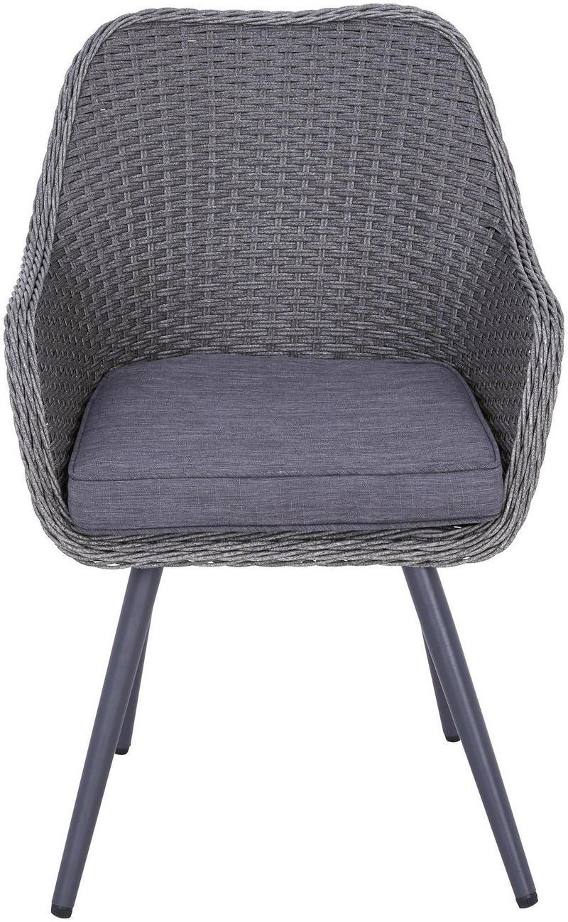 TRÄDGÅRDSSTOL - grå, Design, metall/textil (63/66/87cm) - Ambia Garden