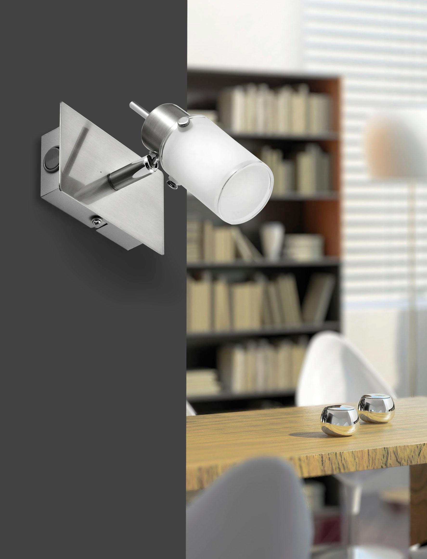 LED SVÍTIDLO - bílá, Konvenční, kov/sklo (15/16,5/15cm) - NOVEL