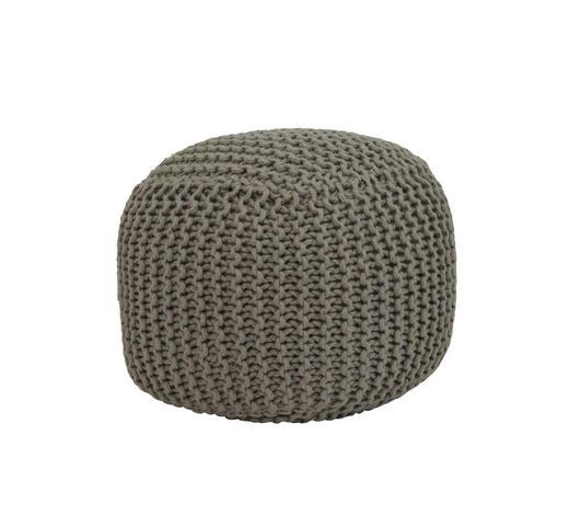 POUF Uni - Grau, Natur, Textil (40/40/40cm)