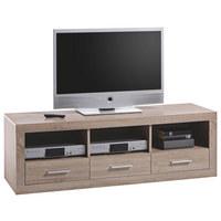 TV ELEMENT - boje hrasta/boje srebra, Design, drvni materijal/drvo (147/49/45cm) - Boxxx