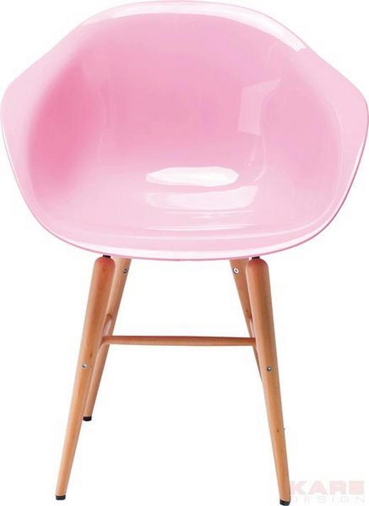 ARMLEHNSTUHL Buche massiv Rosa - Buchefarben/Rosa, Design, Holz/Kunststoff (61/79/53cm) - Kare-Design