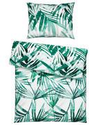 Posteljnina GREEN LIVING - zelena/bela, Trend, tekstil (135/200cm) - Esposa