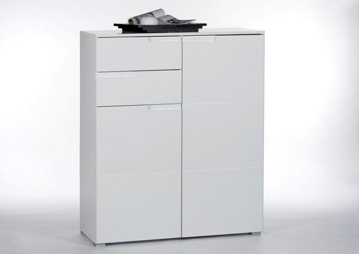 KOMMODE Weiß - Silberfarben/Weiß, Basics, Holzwerkstoff (100/119/40cm)