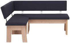 ECKBANK 125/165 cm  in Anthrazit, Eichefarben  - Eichefarben/Anthrazit, KONVENTIONELL, Holzwerkstoff/Textil (125/165cm) - Cantus