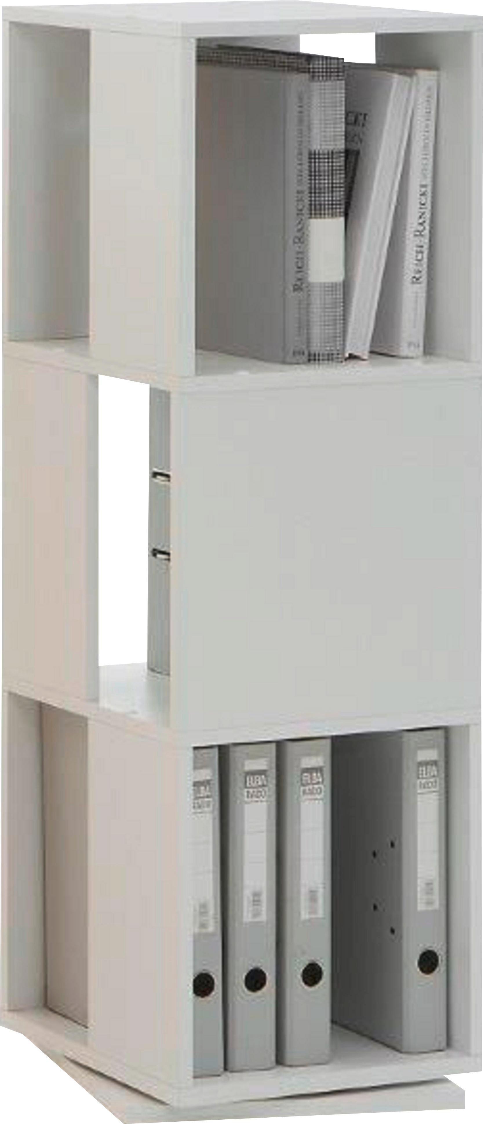 REGAL Weiß - Weiß, Basics, Holzwerkstoff (34/108/34cm) - CARRYHOME
