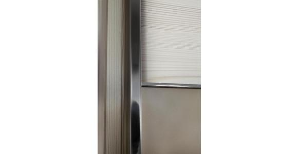 SCHWEBETÜRENSCHRANK in Eichefarben, Magnolie - Chromfarben/Eichefarben, KONVENTIONELL, Glas/Holzwerkstoff (300/236/68cm) - Voleo