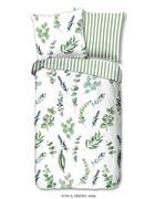 BETTWÄSCHE Renforcé Grün, Weiß 135/200 cm - Weiß/Grün, LIFESTYLE, Textil (135/200cm)