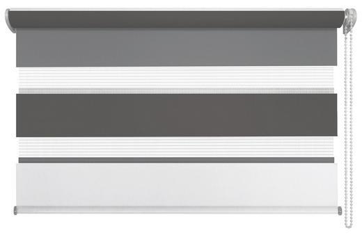 DUOROLLO  halbtransparent   80/210 cm - Anthrazit/Weiß, Design, Textil (80/210cm) - Homeware