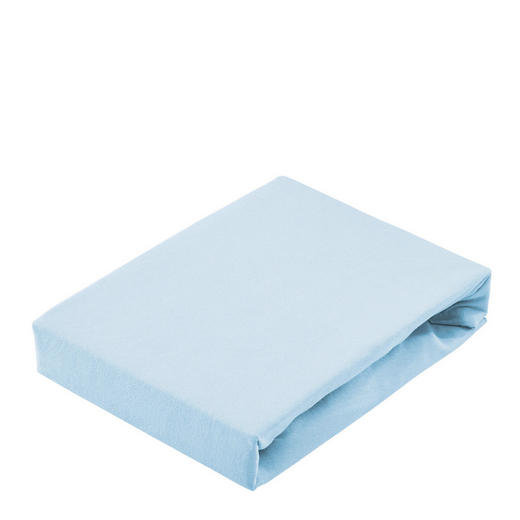 SPANNBETTTUCH Jersey Pastellblau - Pastellblau, Basics, Textil (150/200cm) - Bio:Vio