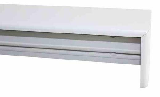 KARNIESE 160 cm - Weiß, Basics, Holz (160cm) - Homeware