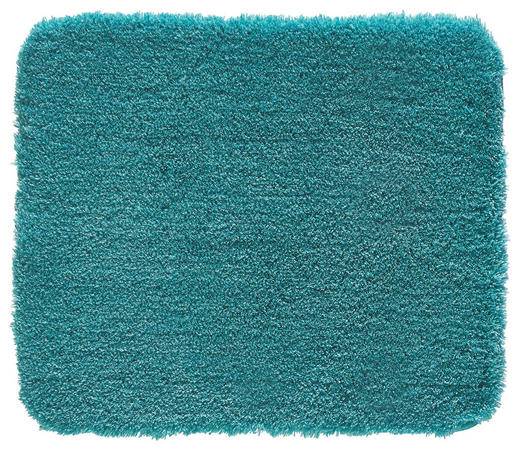 BADTEPPICH  Türkis  55/65 cm - Türkis, Basics, Kunststoff/Textil (55/65cm) - KLEINE WOLKE