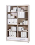 REGAL ZA DOKUMENTE - bijela/boje aluminija, Design, drvni materijal/plastika (124/198/36cm) - Xora