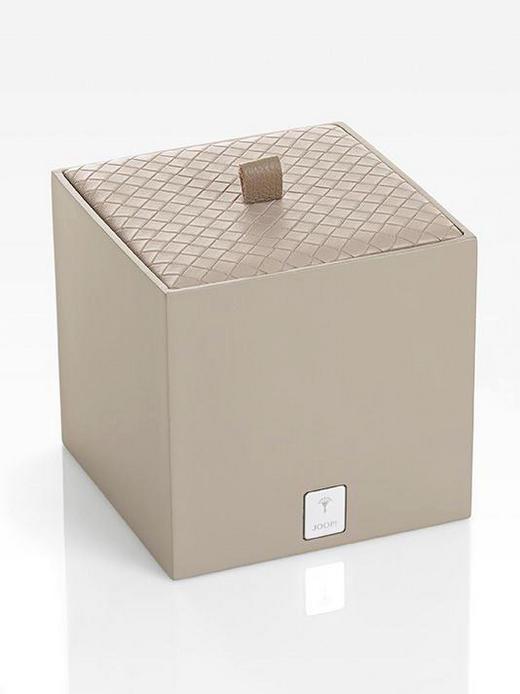 BOX MIT DECKEL - Hellbraun, Design, Kunststoff (11/11/11cm) - Joop!
