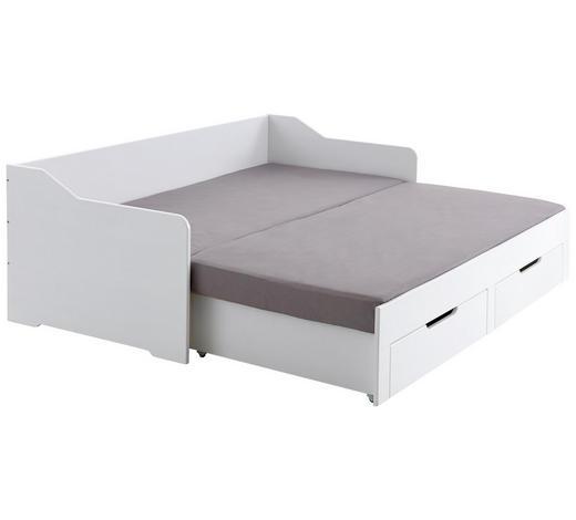 KREVET - bijela, Design, drvni materijal (90/180/200cm) - Xora