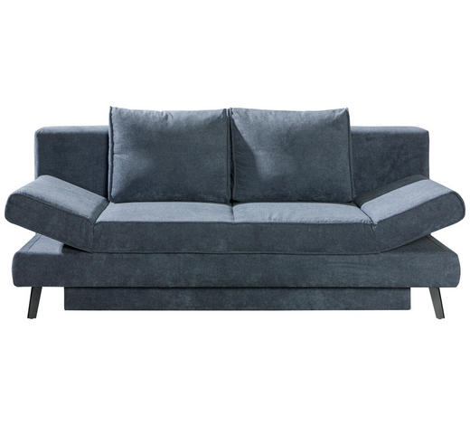 SCHLAFSOFA Grau  - Schwarz/Grau, Design, Textil/Metall (200/85/90cm) - Novel