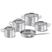 KOCHTOPFSET  Edelstahl  5-teilig - Silberfarben, Basics, Glas/Metall - Fissler