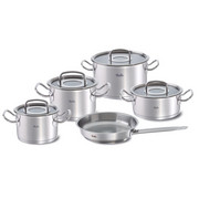 SET POSOD 5/1 PROFI COLLECTION - srebrna, Basics, kovina/steklo - Fissler