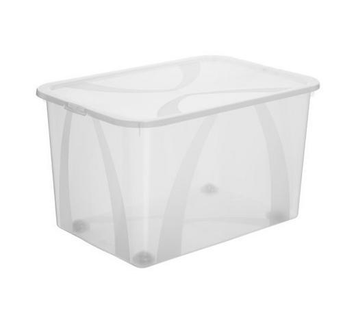 BOX MIT DECKEL 57,1/39,2/33,5 cm - Naturfarben, KONVENTIONELL, Kunststoff (57,1/39,2/33,5cm) - Rotho