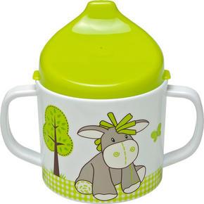 BARNMUGG - vit/grön, Trend, plast (7,5/10cm) - My Baby Lou