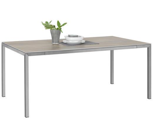 ESSTISCH in Metall, Keramik 180/100/77 cm - Edelstahlfarben/Beige, Design, Keramik/Metall (180/100/77cm) - Dieter Knoll